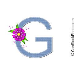 Alphabet Denim Dandy G - The letter G, in the alphabet set...