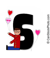 Alphabet Children Valentines S - The letter S, in the...
