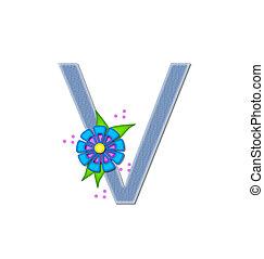Alphabet Denim Dandy V - The letter V, in the alphabet set...