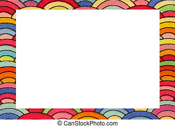 rainbow frame with space to write your text - rainbow nice...