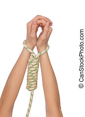 servitude - woman in the loop for hanging as a symbol of...