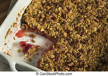 Homemade Cranberry Apple Cobbler Crumble Ready to Eat