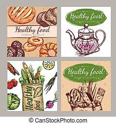 Sketch Healthy Food Icon Set