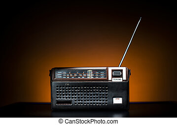Old Fashion Radio - Old Fashion Brown Radio in a leather...