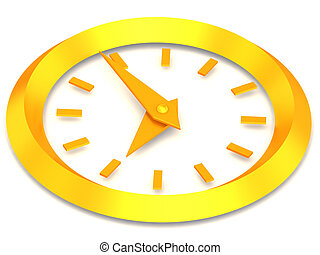 Clock eight oclock 3d