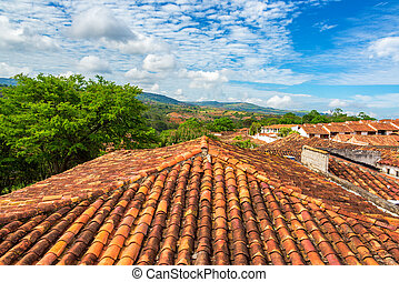 Rooftops in Barichara, Colombia