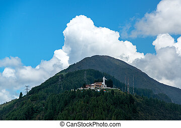 Guadalupe Hill in Bogota, Colombia - View of Guadalupe Hill...