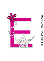 Alphabet Pageant Queen E - The letter E, in the alphabet set...