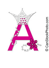 Alphabet Pageant Queen A - The letter A, in the alphabet set...