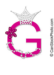 Alphabet Pageant Queen G - The letter G, in the alphabet set...