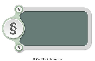 Vector frame for text and paragraph symbol