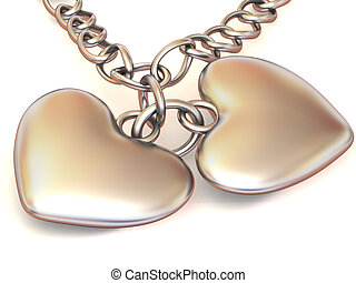 Chain with two hearts