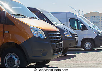 minibuses and vans outside - number of new minibuses and...
