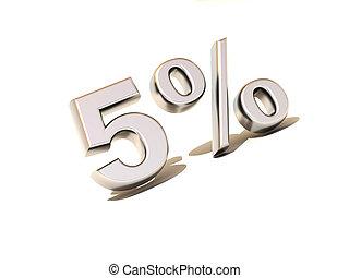 five percent. Silver. 3d