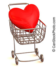 Consumer\'s basket with Heart