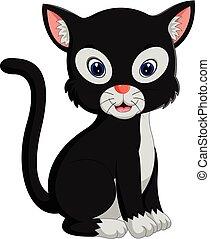 cute cat cartoon - illustration of cute cat cartoon