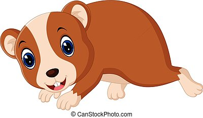 Cute hamster - Illustration of Cute hamster cartoon