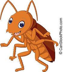 Cute Cockroach - illustration of Cute Cockroach cartoon