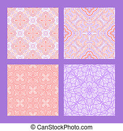 Pink and lilac seamless tiling textures collection