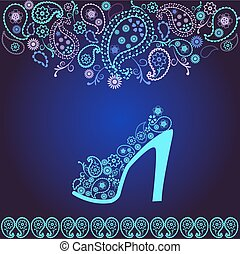 Fashion Background of high heel Shoes