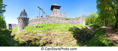 Ancient fortress ruins - Summer view of Nevytsky Castle...