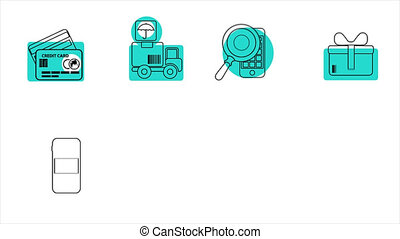 Business and Sales Line Icons