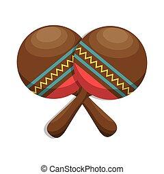 maracas folk music instrument icon