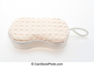 Bath sponge isolated on white background