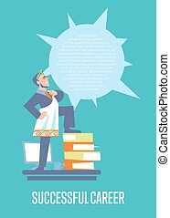 Successful career banner with businessman - Perfect employer...