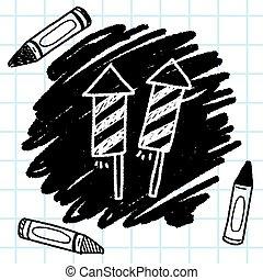 doodle, foguetes
