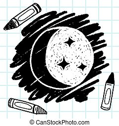 moon star doodle