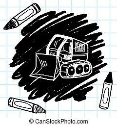 Excavator doodle