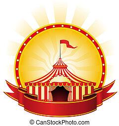 grande, topo, Circo