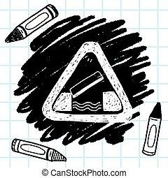 bridge opened doodle