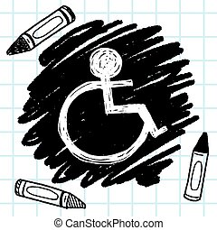wheelchair sign doodle