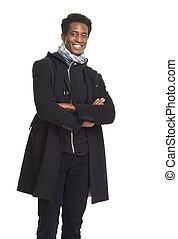African American man - Handsome smiling African American man...