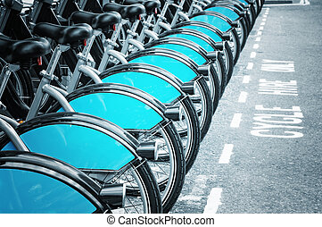 Bikes for rent in Lodnon introduced in July 2010 across...