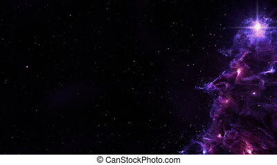 Christmas Tree Nebula Background Full Loop Purple