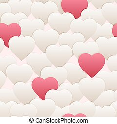 seamless pattern hart white pink