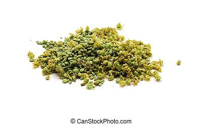 hemp / marijuana buds - cannabis buds isolated on white