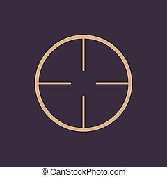 The crosshair icon. Search symbol. Flat Vector illustration