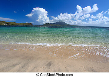 Beautiful beach on Saint Kitts - A beautiful beach on the...