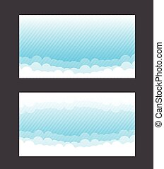 Nature background blue sky and cloud element vector illustration 002