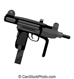 UZI weapon icon monochrome. Single weapon icon from the big...