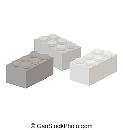 Building block monochrome icon. Illustration for web and...
