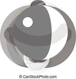 Roly Poly monochrome icon. Illustration for web and mobile design.