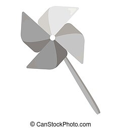 Toy windmill monochrome icon. Illustration for web and...