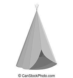 Wigwam icon monochrome. Singe western icon from the wild...