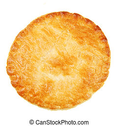 Pastry crust isolated on white