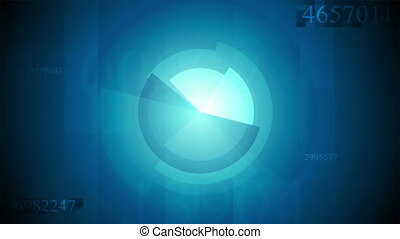 Abstract blue technology video animation